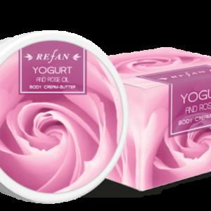 REFAN Ķermeņa krēmsviests «Jogurts un rožu eļļa»