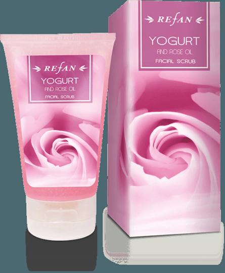 REFAN Sejas skrubis «Jogurts un rožu eļļa»