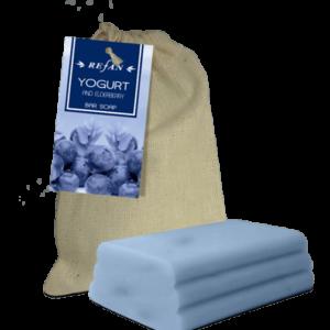 REFAN Ziepes audekla maisiņā «Jogurts un plūškoks»