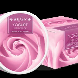 REFAN Ķermeņa skrubis «Jogurts un rožu eļļa»