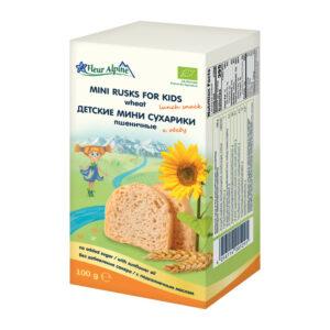 Kviešu krekeri bērniem Fleur Alpine Organic no 3 gadiem 100g