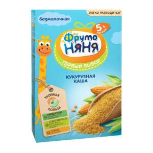 Sausā kukurūzas putra bez piena bērniem no 5 mēnešu vecuma «ФрутоНяня» 180g