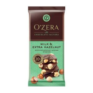 Piena šokolāde «O`Zera» Milk & Extra Hazelnut 90g