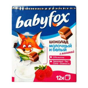 Bērnu piena un balta šokolāde «Babyfox» ar avenēm 90g