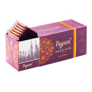 """Ugunspuķes medus tēja paciņās """"Родной"""" (25 gb) 40g"""