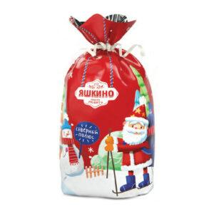 """«Яшкино» ziemassvētku saldumu dāvana """"Konfekšu maisiņš"""" 400g"""