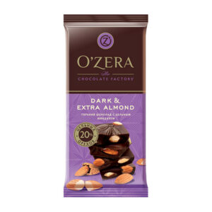 Šokolāde «O`Zera» Dark & Extra Almond 90g