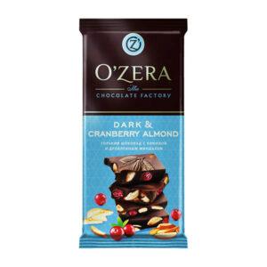 Tumša šokolāde «O`Zera» Dark Cranberry & Almond 90g