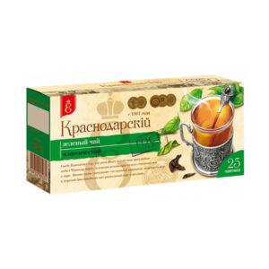 Zaļā tēja «Краснодарскiй с 1901 года» (25 gb 1.7 gr) 50g