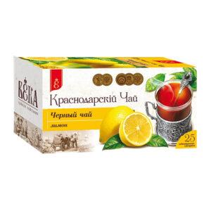 Melnā tēja ar citronu garšu paciņās «Краснодарскiй» (25 gb 1.7 gr) 43g