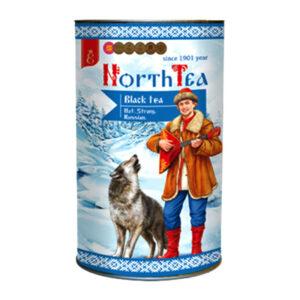 """Ar rokām vākta lielo lapu melnā beramā tēja """"Nоrth Tea"""" tubusā 70g"""