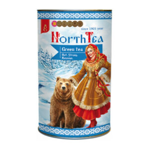 """Ar rokām vākta lielo lapu beramā zaļā tēja """"North Tea"""" tubusā 60g"""