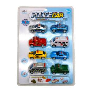 Bērnu policijas mašīnīšu komplekts no 3 gadu vecuma (8 gb)