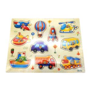 """Koka puzle """"Figūriņas"""" bērniem no 3 gadu vecuma"""