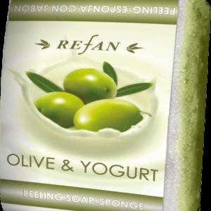 REFAN Pīlinga ziepju sūklis «Jogurts un olīva»